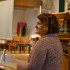 Mary Schlitt looks on at the crowd of Community students in St. Andrew's church on Tuesday.