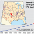 Oklahoma has experienced many more recent earthquakes than its surrounding states, despite not being on a fault. Fracking is the cause of this spike in earthquakes.