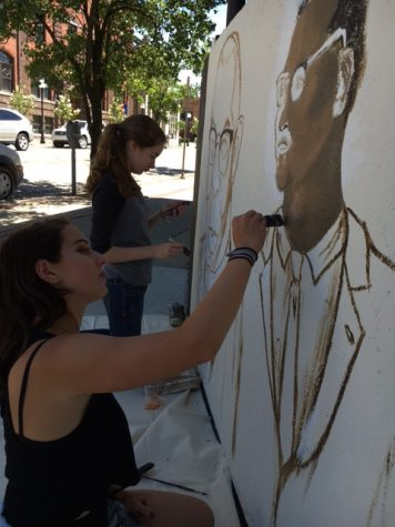 Community High Students Create a Mural about the History of Kerrytown