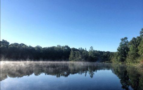 Mist Rises on a Private Lake in Stockbridge