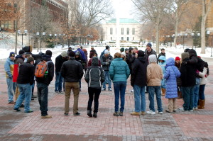 """Circle of Unity"" Draws Crowd on MLK Day"