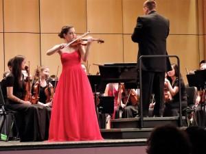 """Emma Sandberg, who played Jean Sibelius' """"Violin Concerto in D minor, Op. 47"""""""