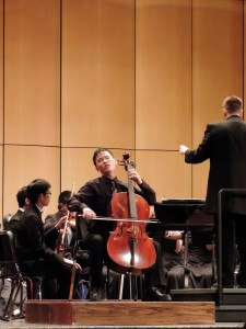 """Jin Nakamura, who played Edward Elgar's """"Cello Concerto in E minor Op. 85"""""""