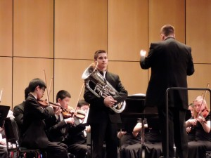 "Elliot Polot, who played Joseph Horovitz's ""Euphonium Concerto"""