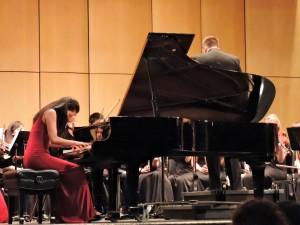 "Sarah Xie, who played Felix Mendelssohn's ""Piano Concerto no. 1 Op. 25 in G minor"""