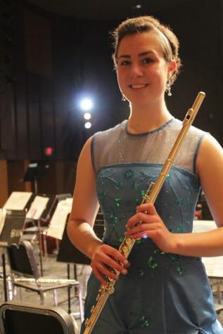 """Ellen Sauer, who played Jacques Ibert's """"Concerto pour Flute et Orchestre"""""""