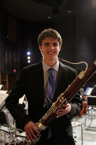 "Trevor King, who played Carl Maria von Weber's ""Concerto for Bassoon in F Major, Op. 75"""