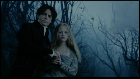 "Johnny Depp and Christina Ricci in ""Sleepy Hollow."""