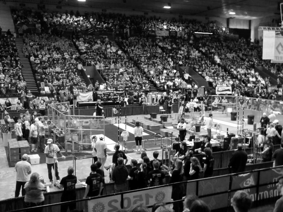 A robotic competition field.