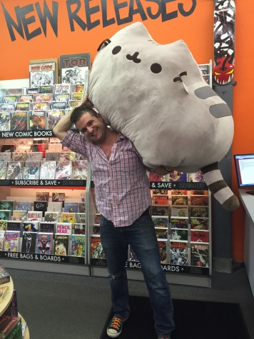 Schwimmer, one of the happy go lucky employees of Vault of Midnight, is fully embracing the full weight of geek culture in the most perfect way.