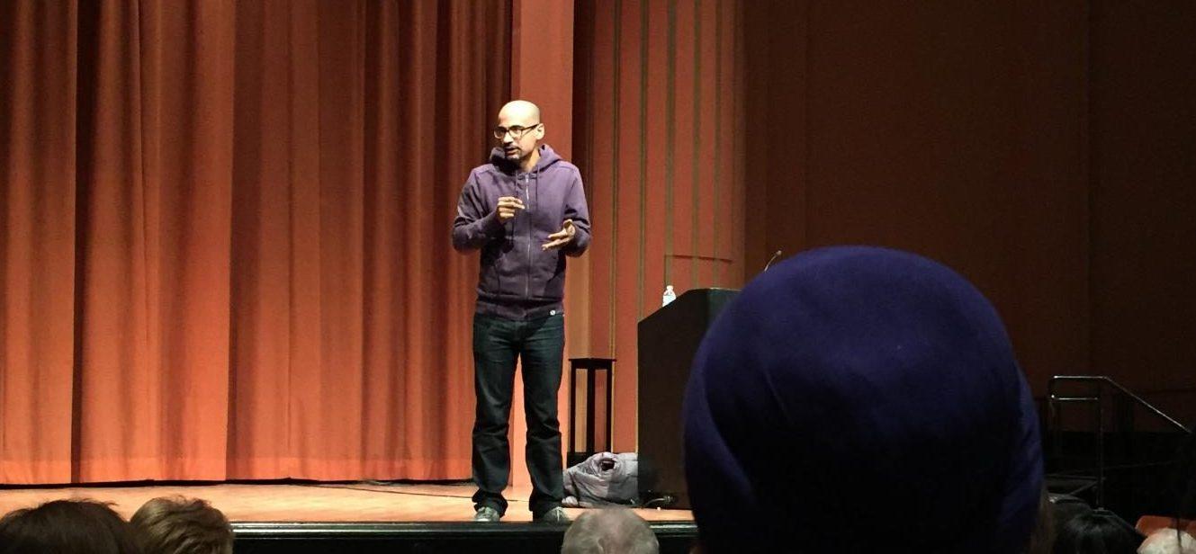 Junot Diaz gives a lecture at Rackham Auditorium